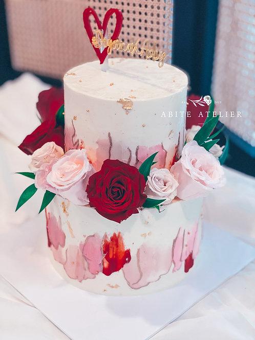 Hana Floral Buttercream Cake