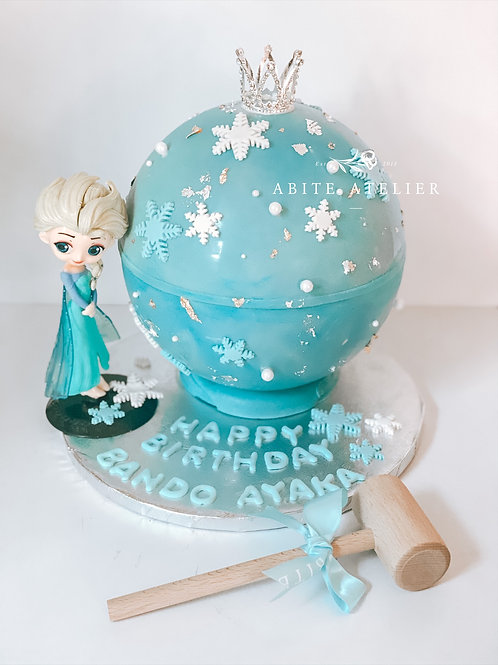 Elsa Piñata Cake