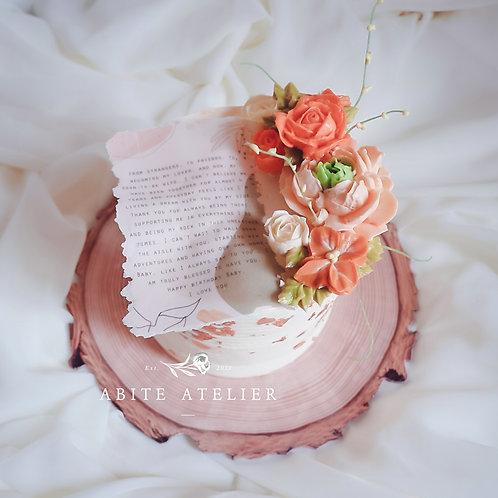 """Estella Floral Cake - 6"""""""
