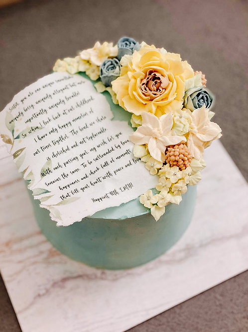 """Francis Floral Cake - 6"""""""