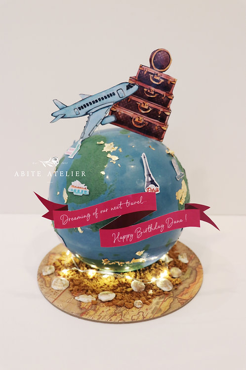 Travel Piñata Cake