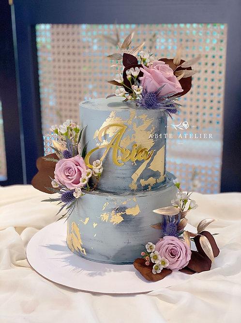 Aria Floral Buttercream Cake