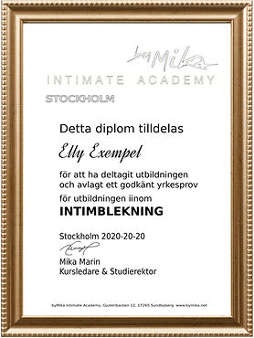 Diplom byMika Intimate Academy