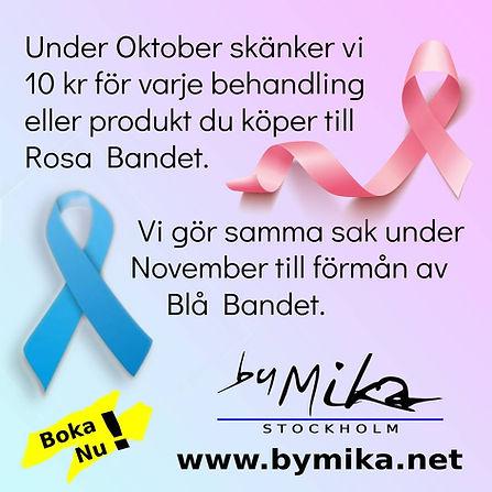 Vi stödjer Rosa Bandet & Blå Bandet