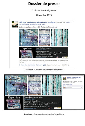 Turbo Sonia Goulet - Dossier de presse - Oeuvres d'art Peintre du Québec YI41
