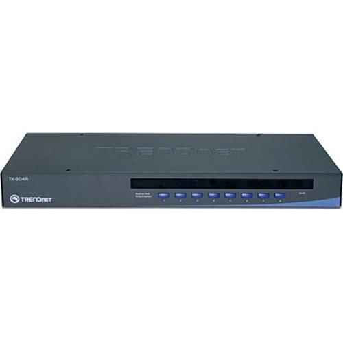 TRENDnet 8-Port Stackable Rack Mount USB & PS/2 KVM Switch w/ OSD
