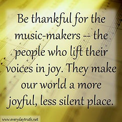 Thankful for music makers quote