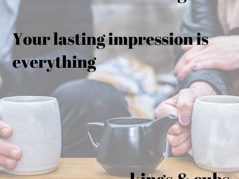 Kindness costs nothing. Lasting impressions are everything.