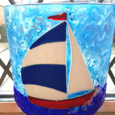 Sailing On The Deep Blue Lamp Bender