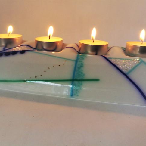 Abstract Tealight Bridge