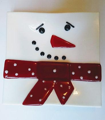 Snowman Christmas Plates
