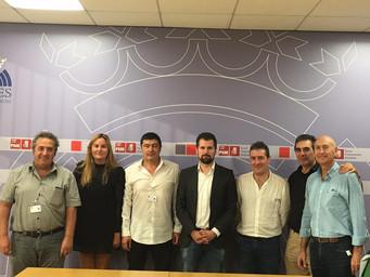 """""""UPATRANS CASTILLA Y LEON"""" SE REUNE CON REPRESENTATES DEL PSOE EN LAS CORTES AUTONOMICAS DE CASTILLA"""