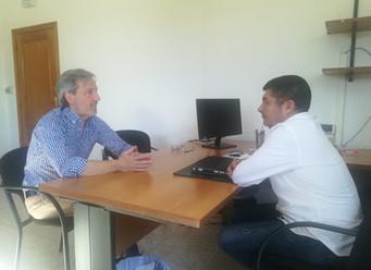Visita del candidato de Coalición por el Bierzo al Ayuntamiento de Ponferrada