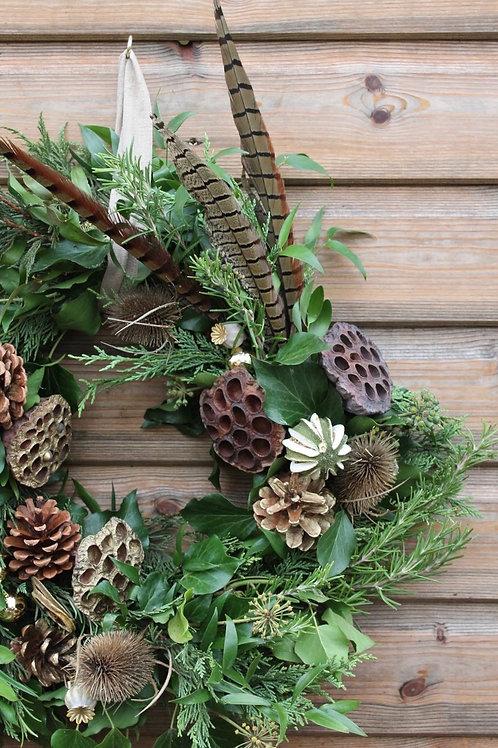 Rustic & Rosy Wreath