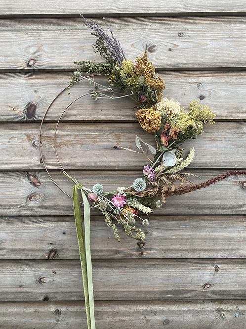 DIY Everlasting Flower hoop (half)