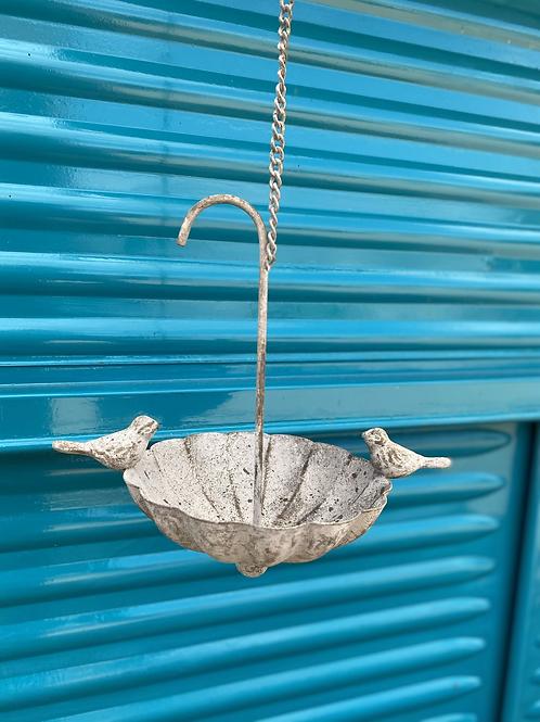 Umbrella bird bath