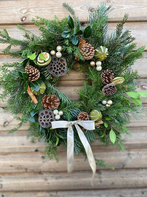 Festive wreath - the lime one