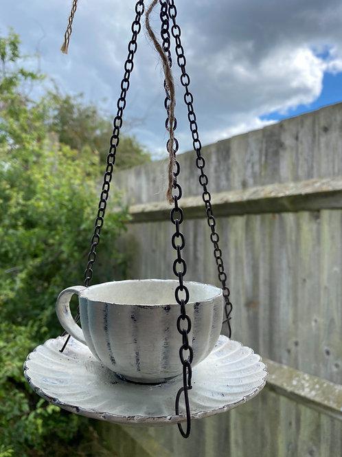 Teacup Bird Feeder - with small bag of bird food
