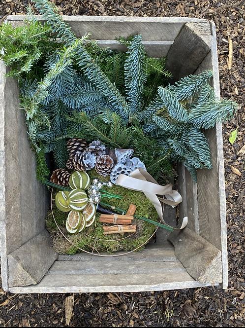 Christmas Wreath DIY kit -Silver