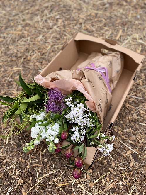 Gift Box Flowers (to be arranged by recipient) Outside our local delivery areas