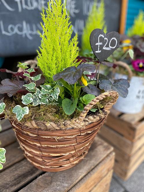 Autumnal wicker basket -30cm