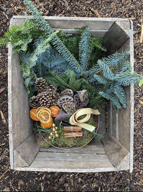 Christmas Wreath DIY kit - Gold