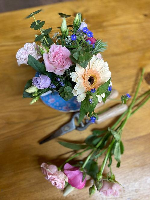 DIY Flower Teacup