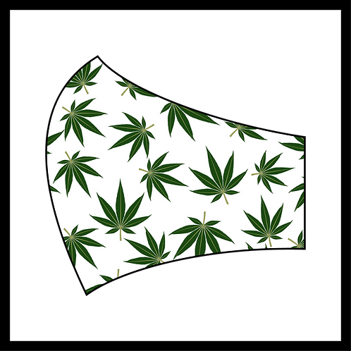 Green & White Weed Mask
