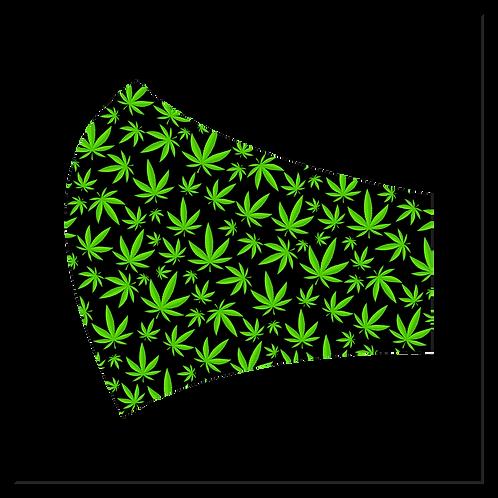 Black & Green Weed Mask