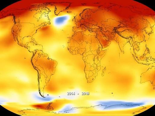 Año 2018 el más caluroso de la historia: NASA
