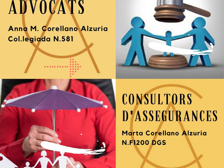 Corellano Advocats i Consultors d'Assegurances.Sempre amb vosaltres....Let's Go!!
