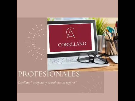 """Corellano """"profesionales"""" abogados y consultores de seguros."""