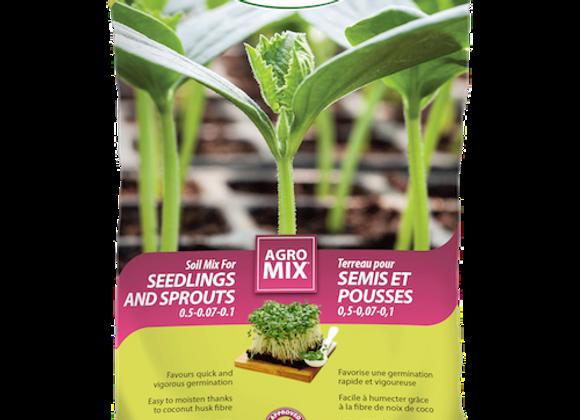 Terreau Agromix pour semis et pousses - 25L