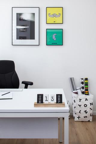 עיצוב משרדי הייטק בסגנון סקנדינבי נקי. צ