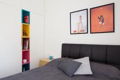 חדר ילדים ואירוח בסגנון סקנדינבי . צילום