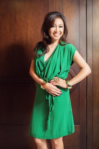 Peggy Liu full length green hair down.jp