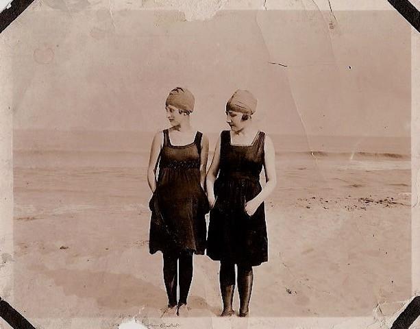 Mary Lu Bois circa 1917 on Rockaway Beach