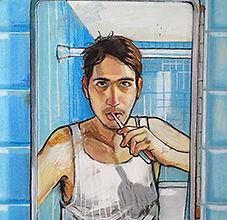 Andres Aranda, Self-Portrait, 28 x 22 in