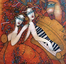 Albena Vatcheva, At the Opera, 46 x 35 i