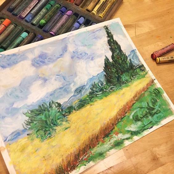 van Gogh, Wheat Field with Cypress Tree