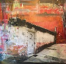 Sascha Westendorp, Door 13, 48x48, Mixed