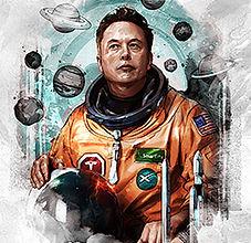 Reinvent | David X, Elon, 40%22 x 60%22,