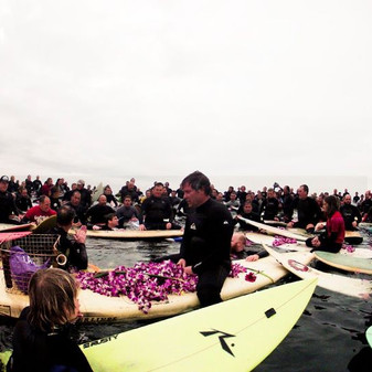 Paddle out for Theodore Kenneth Smith