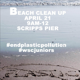 Beach Clean Up - April 21 @ Scripps Pier