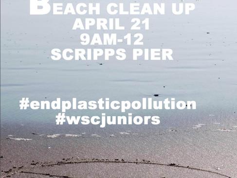 Beach Clean Up - April 21 @ Scripps Pier
