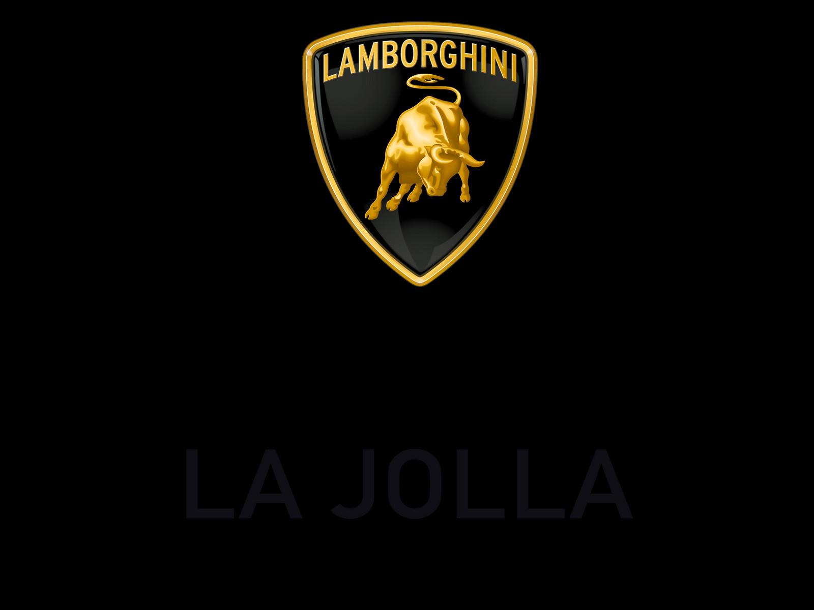 Logo Lamborghini La Jolla Black Png