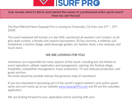 Volunteer 4 SuperGirlPro