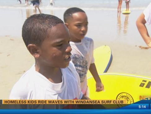 Homeless Kids Ride Waves with the Windansea Surf Club