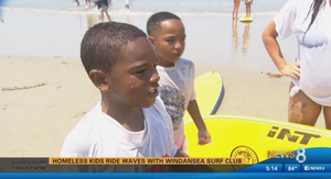 click here to watch the news clip about Windansea Surf Club's Day at the Beach with St. Vincent de Paul