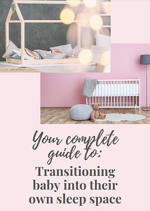 Your GO TO guide for transitioning baby out of your bed in a gentle way.